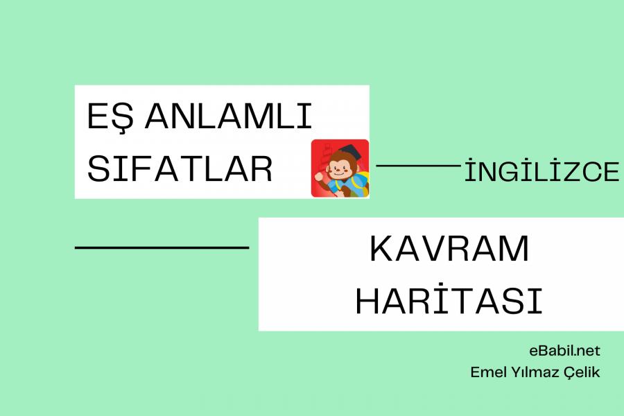 Kavram Haritası: İngilizce Eş Anlamlı Sıfatlar (Synonyms Of The Adjectives)