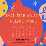 Kelime Oyunu: İngilizce Aylar (Months)
