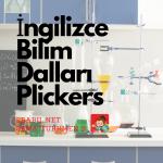Kelime Oyunu (Plickers): İngilizce Bilim Dalları (Science Fields)