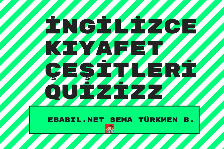 Kelime Oyunu (Quizizz): İngilizce Kıyafetler (Clothes)