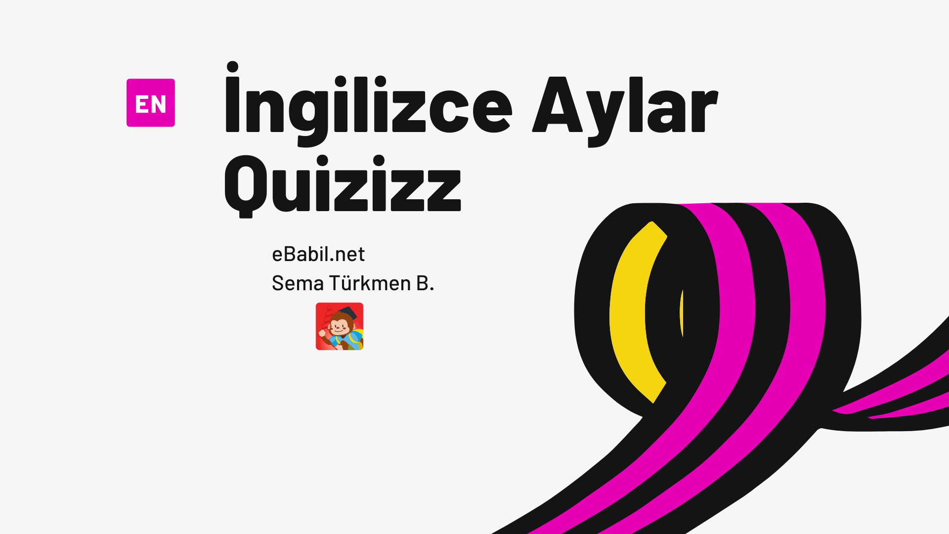 Kelime Oyunu (Quizizz): İngilizce Aylar (Months)