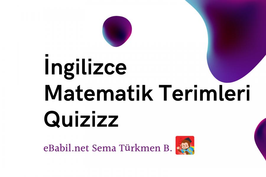 Kelime Oyunu (Quizizz): İngilizce Matematik Sembolleri (Maths Symbols)