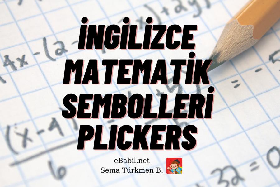 Kelime Oyunu (Plickers): İngilizce Matematik Sembolleri (Maths Symbols)
