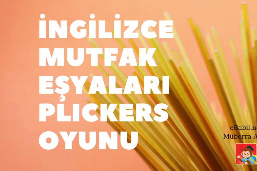 Kelime Oyunu (Plickers): İngilizce Mutfak Eşyaları (Kitchen Utensils)