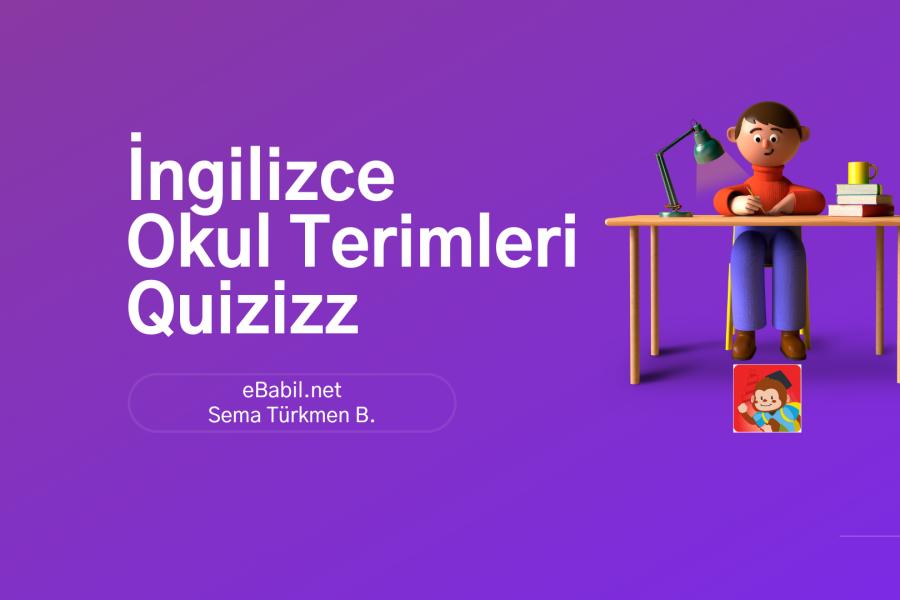 Kelime Oyunu (Quizizz): İngilizce Okul Eşyaları (School Objects)