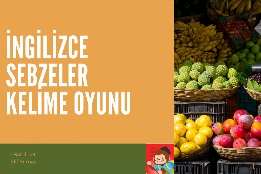 Kelime Oyunu: İngilizce Sebzeler (Vegetables)