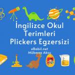 Kelime Oyunu (Plickers): İngilizce Okul Terimleri (Schools Phrases)