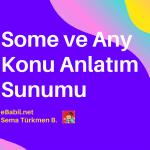 Ders Sunumu: İngilizce'de Some ve Any