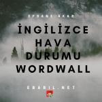 İngilizce Hava Durumu Konusu Wordwall Oyunları