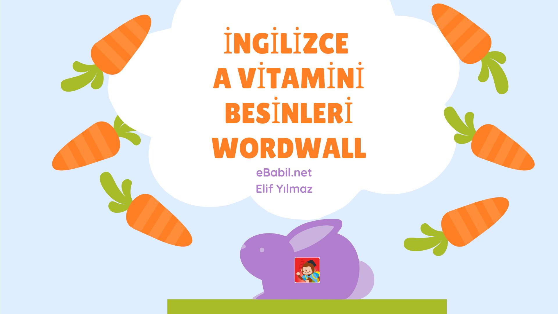 İngilizce A Vitamini Besinleri Wordwall Oyunları