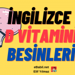 İngilizce D Vitamini Besinleri Ders Afişi (10 Foods That Are High in Vitamin D)