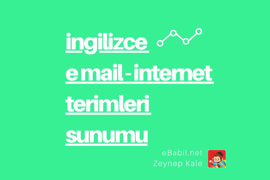 İngilizce E Mail ve İnternet Terimleri Sunumu