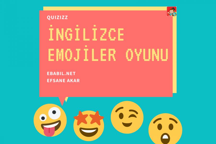 İngilizce Emoji Kelimeleri Oyunu (Emotions)