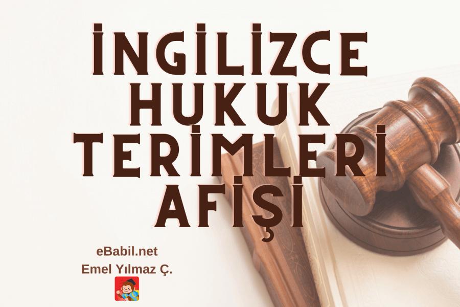 İngilizce Hukuk Terimleri Afişi