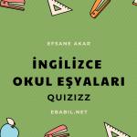 Okulla İlgili İngilizce Kelime Oyunu (School Subjects)