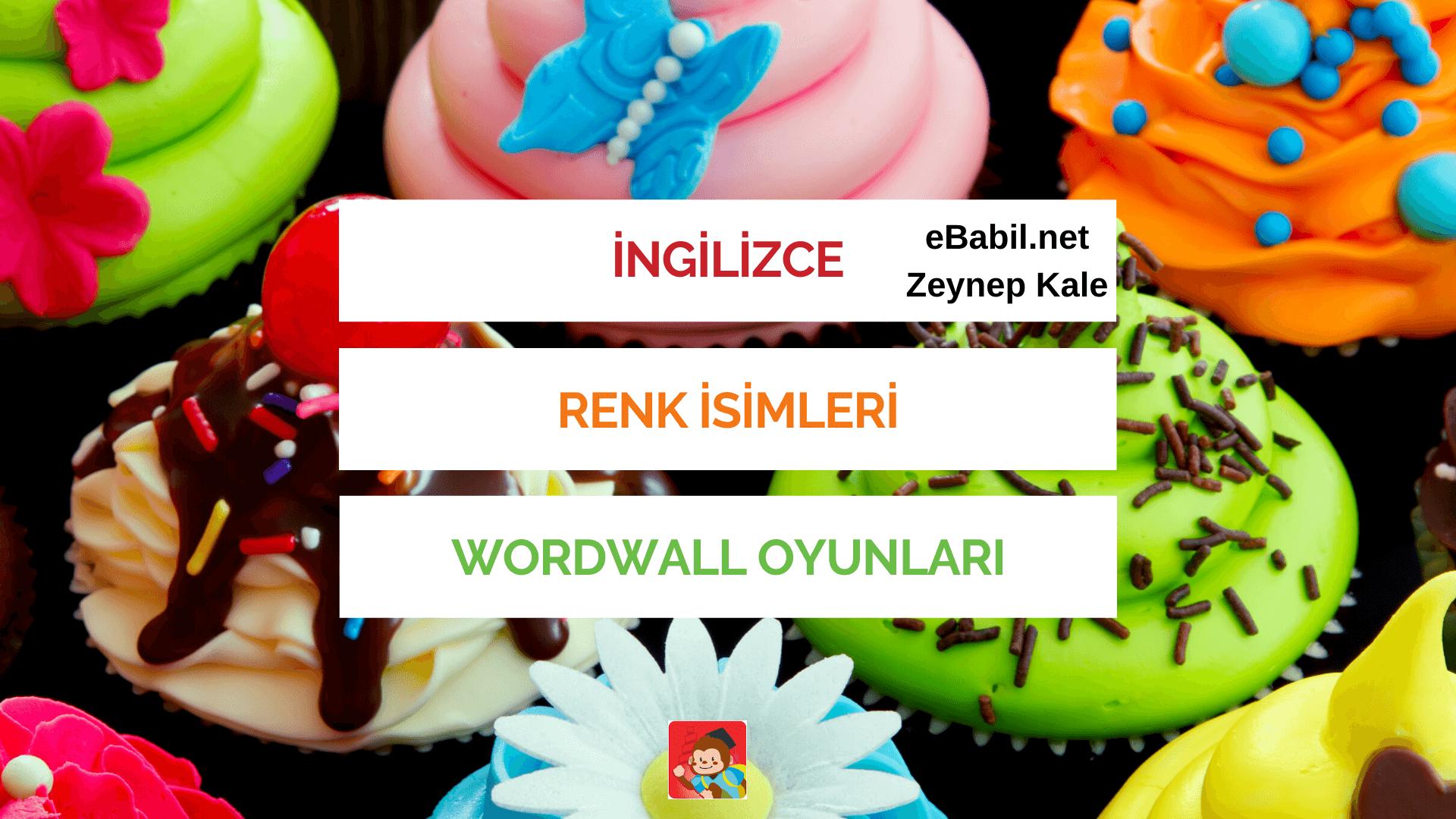 İngilizce Renk İsimleri Wordwall Kelime Oyunları