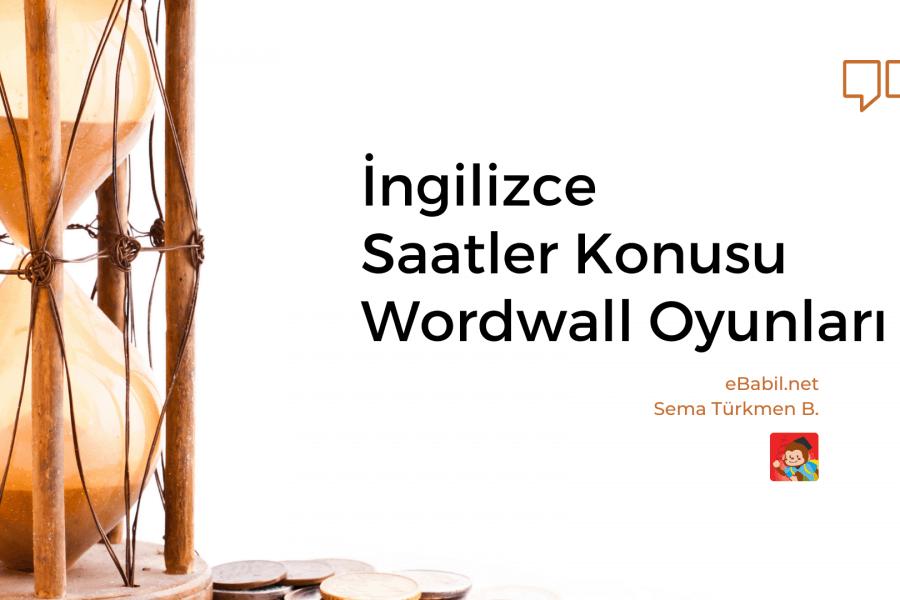 İngilizce Saatler Konusu Wordwall Alıştırmaları