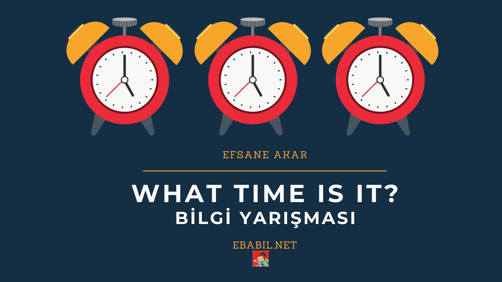 İngilizce Saatler Konusu Bilgi Yarışması (Telling The Time)