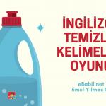 İngilizce Temizlik Terimleri Wordwall Oyunu (Cleaning Terms and Household Chores)
