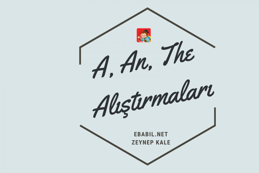 A, An, The Alıştırmaları ve İngilizce Tekil Çoğul İsimler Wordwall Oyunu