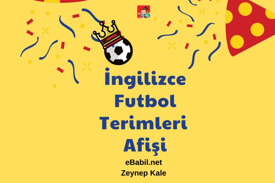 İngilizce Futbol Terimleri Kavram Haritası Afişi