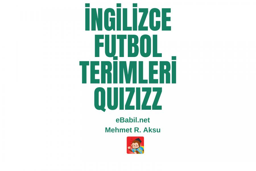 İngilizce Futbol Kelimeleri Quizizz Oyunu
