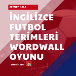 İngilizce Futbol Terimleri Kelime Oyunu (Football Terms)