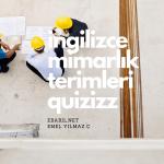 İngilizce Mimarlık ve İnşaat Terimleri Kelime Oyunu
