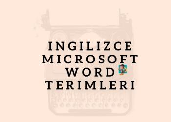 ingilizce word kısayolları ebabil.net