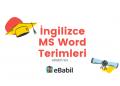 ingilizce word terimleri