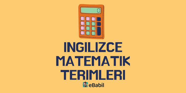 ingilizce matematik terimleri ebabil.net