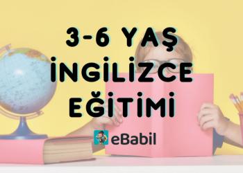 3 Yaş Çocuklar İçin İngilizce